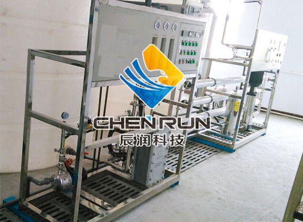 2T/H單(dan)級反滲透+EDI設備
